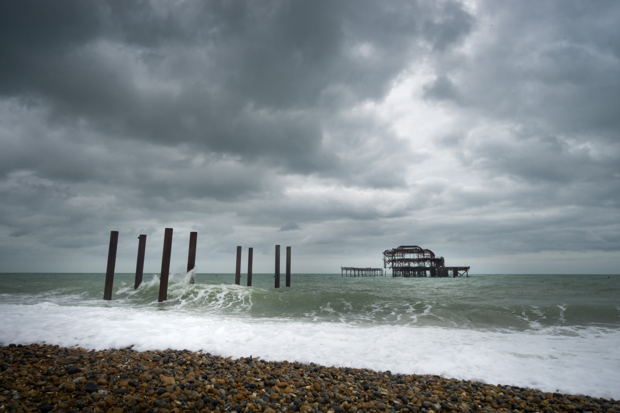 Brighton ancien old west Pier